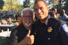 Welcome party for Chief Hahn as the 45th Sacramento Chief of Police at McClatchy Park.